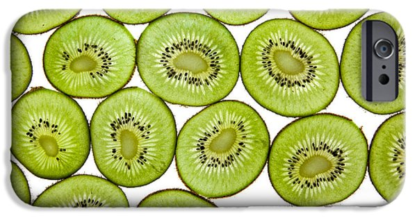 Slices iPhone Cases - Kiwifruit iPhone Case by Nailia Schwarz