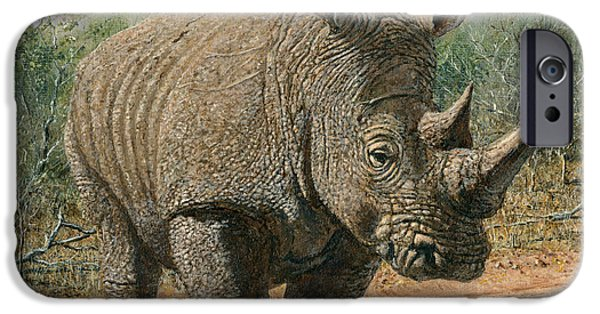 Richard iPhone Cases - Kruger White Rhino iPhone Case by Richard Harpum