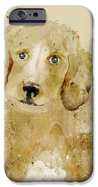 Labrador Retriever Digital Art iPhone Cases - Labrador iPhone Case by Bri Buckley