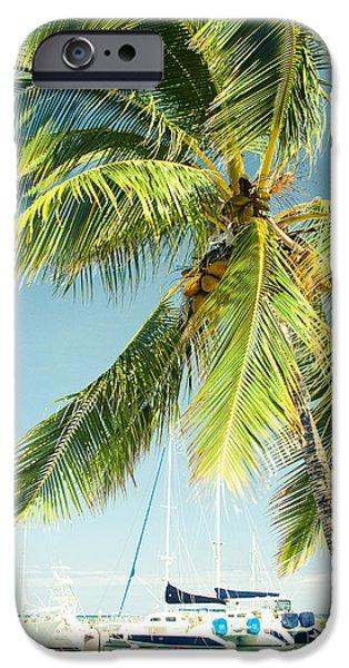 My Ocean iPhone Cases - Lahaina Harbor Maui Hawaii iPhone Case by Sharon Mau