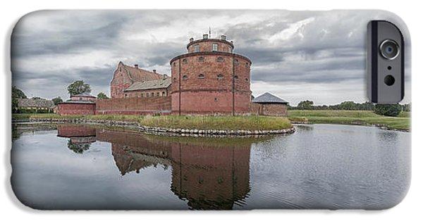 Weapon iPhone Cases - Landskrona Citadel Panorama iPhone Case by Antony McAulay