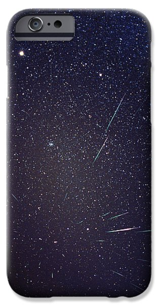 Constellations iPhone Cases - Leonid Meteors iPhone Case by Dr Fred Espenak