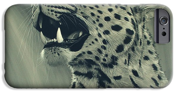 African Wildlife iPhone Cases - Leopard Portrait iPhone Case by Aaron Blaise