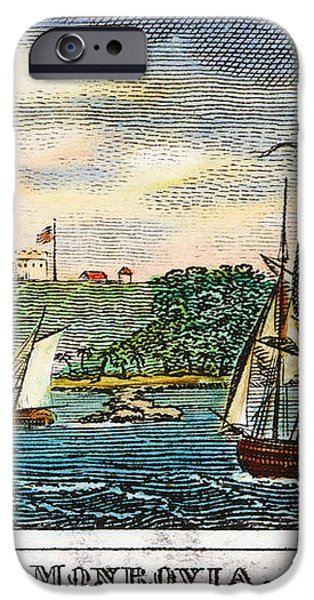 LIBERIA: FREED SLAVES 1832 iPhone Case by Granger