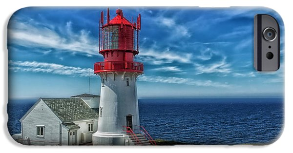 Norway iPhone Cases - Lindesnes Lighthouse Norway iPhone Case by Frank Hofmann