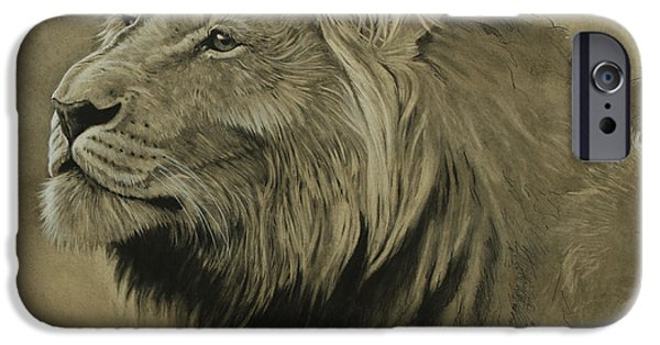 Lion Art iPhone Cases - Lion Portrait iPhone Case by Aaron Blaise