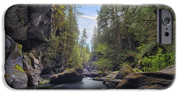 Water In Caves iPhone Cases - Little Huson Caves, Near Woss  British iPhone Case by Robert Postma