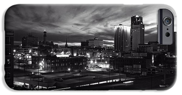 Arkansas iPhone Cases - Little Rock at Dusk iPhone Case by Bruce Stracener