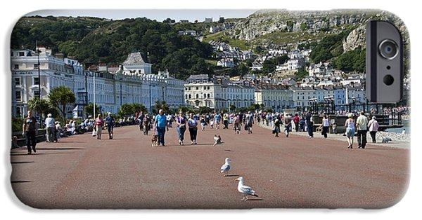 Seagull iPhone Cases - Llandudno beach iPhone Case by Svetlana Sewell