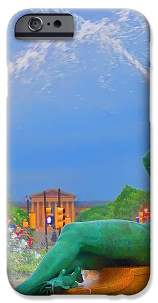 Logan Circle Fountain 1 iPhone Case by Bill Cannon