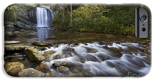 Looking iPhone Cases - Looking Glass Falls North Carolina iPhone Case by Dustin K Ryan
