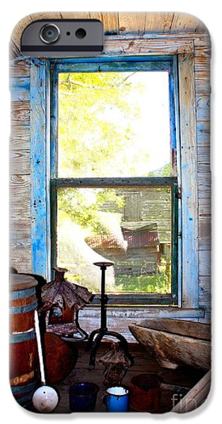 Cabin Window iPhone Cases - Looking Out  iPhone Case by Carol Groenen