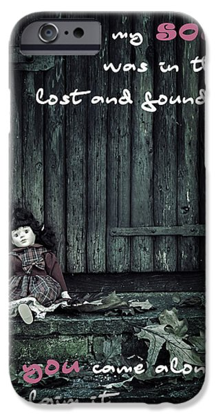 Porcelain Doll iPhone Cases - Lost And Found iPhone Case by Joana Kruse