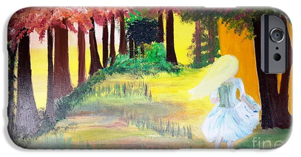 Young Paintings iPhone Cases - Lost Girl iPhone Case by Cindy  Riley