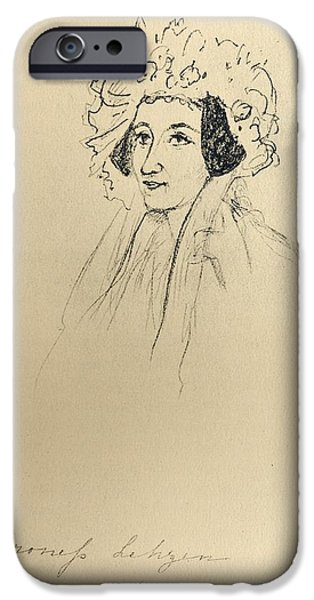 Baroness iPhone Cases - Louise Lehzen,1784-1870. German iPhone Case by Ken Welsh
