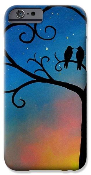 Birds iPhone Cases - Love Birds iPhone Case by Michelle Eshleman