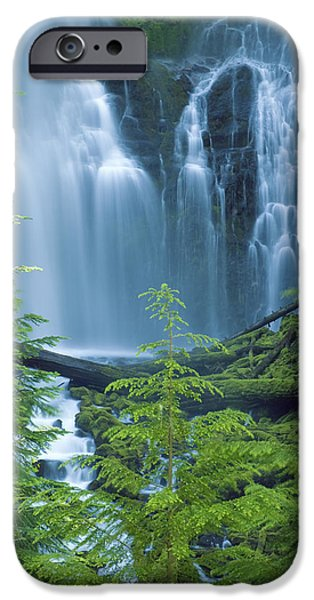 Lower Proxy Falls iPhone Case by Greg Vaughn - Printscapes