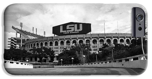 Sec iPhone Cases - LSU Tiger Stadium iPhone Case by Scott Pellegrin