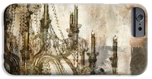 Chandelier iPhone Cases - Lumieres iPhone Case by Mindy Sommers