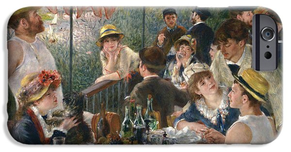 Renoir iPhone Cases - Luncheon of the Boating Party iPhone Case by Auguste Renoir