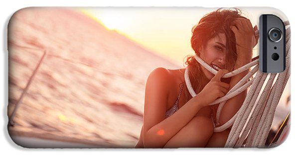 Sailboats iPhone Cases - Luxury photoshoot on sailboat iPhone Case by Anna Omelchenko