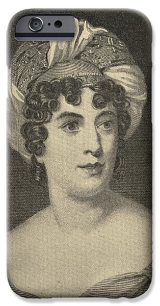 Baroness iPhone Cases - Madame De Stael  Anne-louise-germaine iPhone Case by Ken Welsh