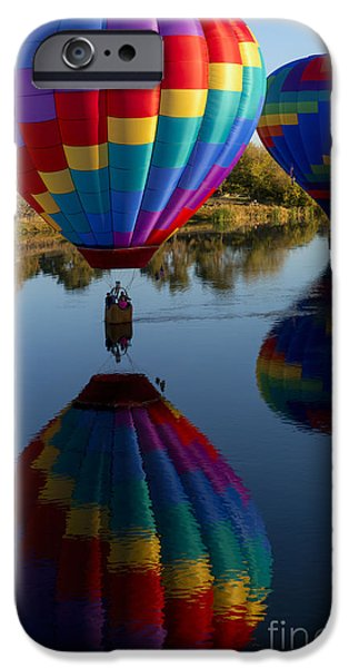 Hot Air Balloon iPhone Cases - Making Waves iPhone Case by Mike Dawson
