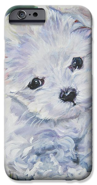 Maltese Puppy iPhone Cases - Maltese iPhone Case by Lee Ann Shepard
