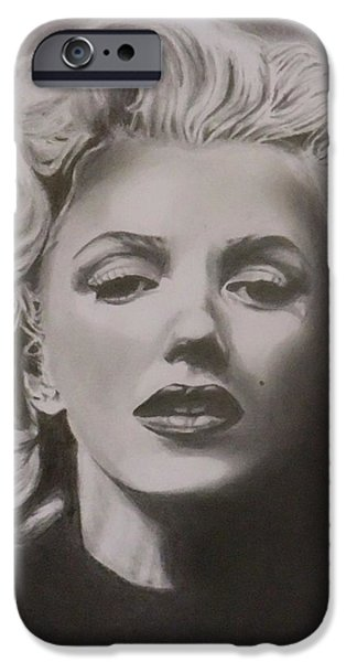 Marilyn Monroe iPhone Case by Mike OConnell