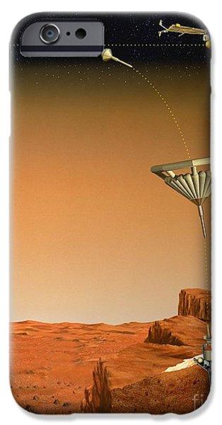 Penetration iPhone Cases - Mars 96 Penetrator, Artwork iPhone Case by David Ducros