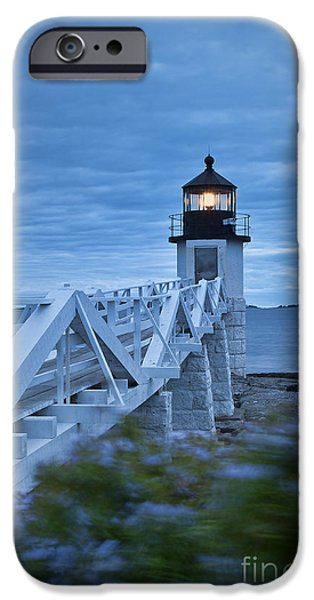 New England Lighthouse iPhone Cases - Marshall Point Light iPhone Case by John Greim