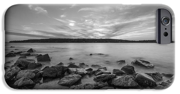 Michael iPhone Cases - Marshall Point Sunset BW iPhone Case by Michael Ver Sprill