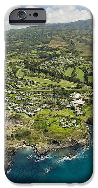 Maui Aerial Of Kapalua iPhone Case by Ron Dahlquist - Printscapes