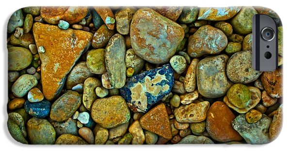 Michael iPhone Cases - Medina River Rocks iPhone Case by Michael Tidwell