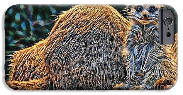 Meerkat iPhone Cases - Meerkat iPhone Case by Marvin Blaine