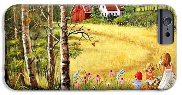 Marilyn Smith Paintings iPhone Cases - Memories For Mom iPhone Case by Marilyn Smith