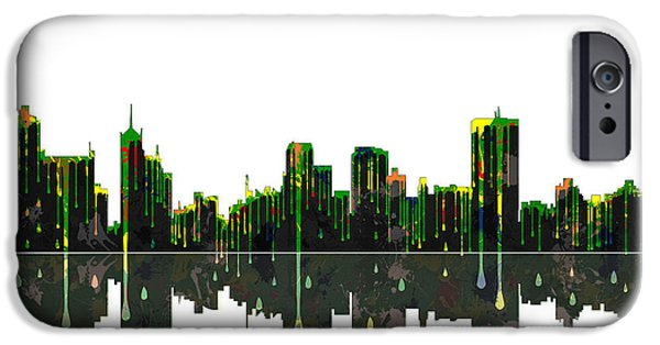 City Scape Digital Art iPhone Cases - Memphis Tennessee Skyline iPhone Case by Marlene Watson