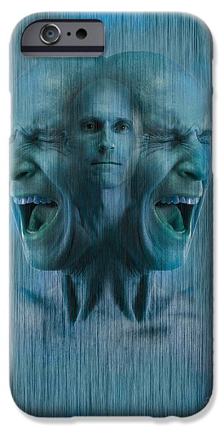 Multiple Identities iPhone Cases - Mental Illness iPhone Case by George Mattei