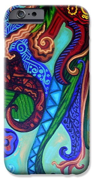 Metaphysical Paintings iPhone Cases - Metaphysical Habituation iPhone Case by Genevieve Esson