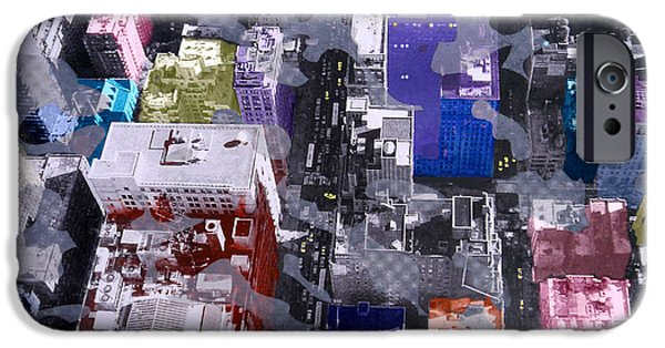 Taxi iPhone Cases - Metropolis  iPhone Case by David Studwell