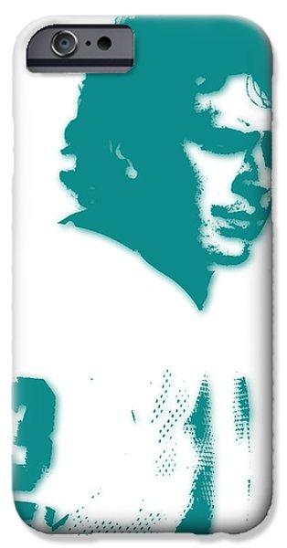Dan Marino iPhone Cases - Miami Dolphins Dan Marino iPhone Case by Joe Hamilton