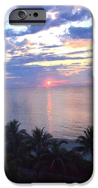 Miami Sunrise iPhone Case by Pravine Chester