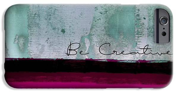 Fushia iPhone Cases - Minima - Be Creative 01b- bo iPhone Case by Variance Collections