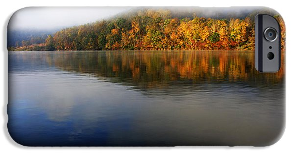 Fog Mist iPhone Cases - Misty Morning on the Lake iPhone Case by Thomas R Fletcher