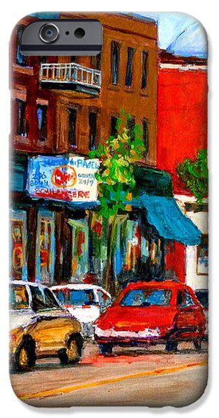 MONTREAL PAINTINGS iPhone Case by CAROLE SPANDAU