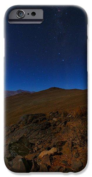 Moonlit Night Photographs iPhone Cases - Moonlit Night, Atacama Desert, Chile iPhone Case by Babak Tafreshi