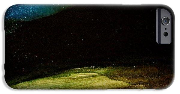 Moonscape iPhone Cases - Moonscape iPhone Case by Kim Peto
