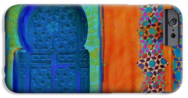 Calligraphy Print iPhone Cases - Morroccon Door iPhone Case by Seema Sayyidah