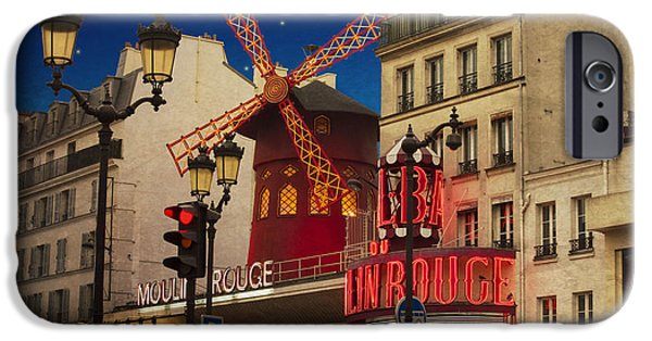 Nightclub iPhone Cases - Moulin Rouge iPhone Case by Juli Scalzi