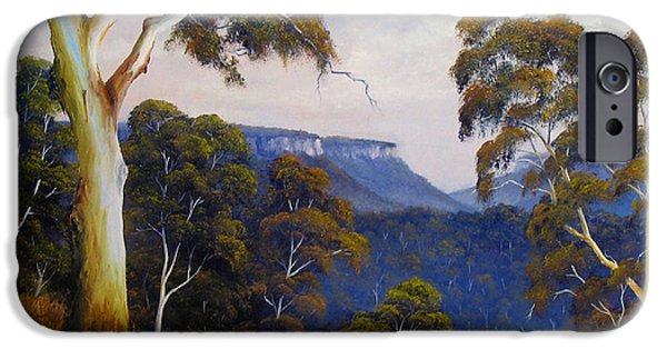 Landscapes Reliefs iPhone Cases - Mountain View iPhone Case by John Cocoris